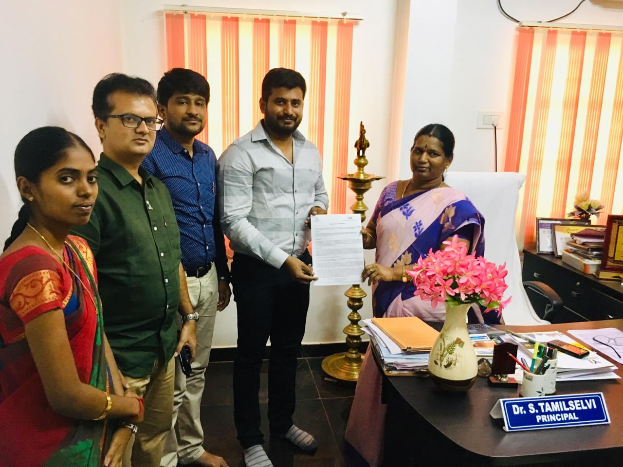 Yuva MoU Signed at Maharani College Of Arts and Science