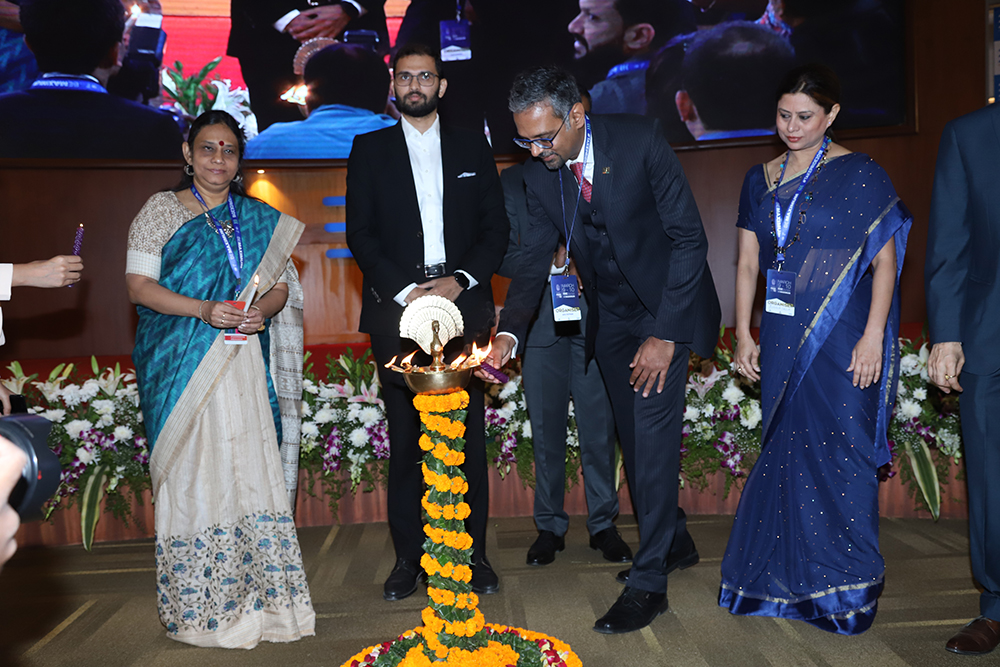 Lighting the ceremonial lamp at the Inauguration of Take pride 2018 : Mumbai